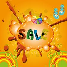Colorful Summer Sale Template Stock Photography