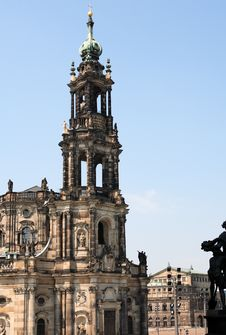 Free Gothic Belfry In Dresden Royalty Free Stock Photo - 25965175