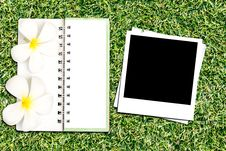 Free Photo Frame And Notebook Royalty Free Stock Photos - 25965198