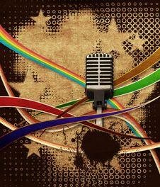 Free Retro Microphone Royalty Free Stock Image - 25965636