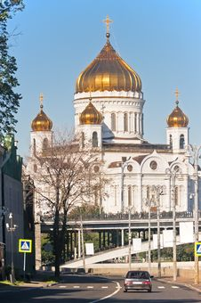 Cathedral Of Christ The Savior. Moscow Stock Photo