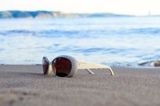 Free Glasses On Beach Stock Photo - 25966240