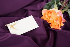 Free Delicate Rose On A Delicate Silk Stock Images - 25966374