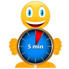 Free Five Minutes With Smile Stock Image - 25968231