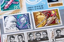 Free The USSR Stamps On The Subject Of Space Royalty Free Stock Photo - 25969175