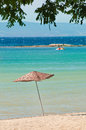 Free Umbrella On Tropical Beach Royalty Free Stock Photography - 25974097