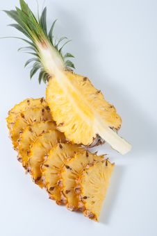 Free Pineapple Section And Slices Stock Photography - 25971852