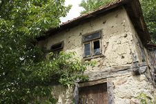 Very Old Mud Bosnian House Royalty Free Stock Photo