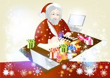 Free Christmas Santa With Gifts Stock Photo - 25977500