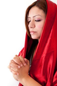 Free Young Woman Praying Royalty Free Stock Photos - 25978418
