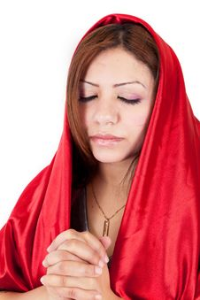 Free Young Woman Praying Royalty Free Stock Image - 25978476