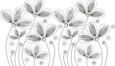 Free Vector Flower Border Royalty Free Stock Photo - 25979655