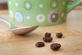Free Coffee Beans And Cup Royalty Free Stock Photos - 25981338