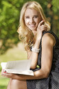 Free Young Woman Reading Book Royalty Free Stock Images - 25987989