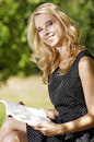 Free Young Woman Reading Book Stock Photography - 25987992