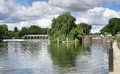 Free Weir And Lock Gate On The River Thames Royalty Free Stock Images - 25989589
