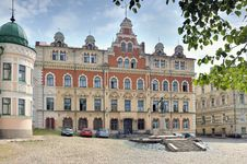 Vyborg. Town Hall Square. Royalty Free Stock Images