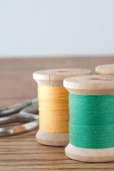Free Spools Of Thread Stock Photo - 25981230