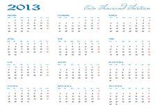 Free Calendar 2013 Royalty Free Stock Photos - 25981418