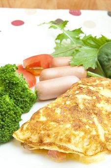 Free Omelet With Sausage Stock Photo - 25984940