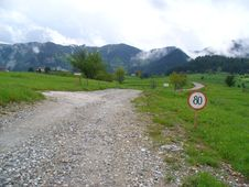 Free Road Sign, The Rhodopes, Bulgaria Stock Photo - 25985590