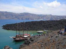 Free To The Volcano, Nea Kameni, Santorini Royalty Free Stock Photo - 25985615