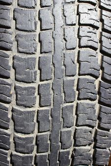 Free The Old Tyre Tread Stock Photo - 25985970