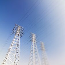Free Power Transmission Tower  Group Stock Photography - 25986482