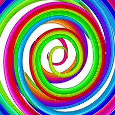 Art Colorful Rainbow Glossy Twirl. Abstract Backgr