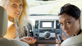 Free Attractive Women Inside A Car Royalty Free Stock Photography - 25990067