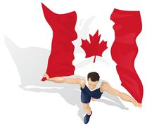 Free Canadian Race Winner Royalty Free Stock Photo - 25990555