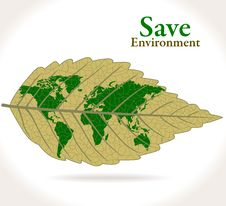 Free Green World On A Leaf Stock Images - 25992234