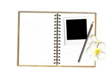 Free Photo Frame On Note Book With Flower Stock Photography - 25996452