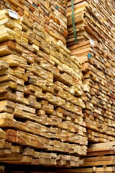 Free Stack Of Timber Wood Royalty Free Stock Image - 25997706