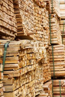 Free Stack Of Timber Wood Royalty Free Stock Image - 25997756