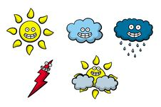 Free Happy Weather Icons Stock Image - 25999011