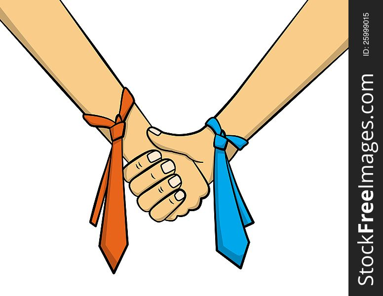 Sign of partnership