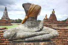 Free Ruin Buddha Status Stock Photography - 260322