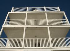 Free White Balconies Royalty Free Stock Images - 262829