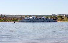 Motor Ship On Volga River Russia Stock Images