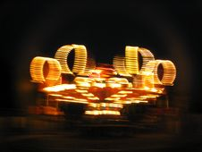 Carnival Ride At Night Royalty Free Stock Images