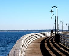 Free Walking The Pier Royalty Free Stock Image - 264476