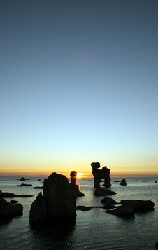 Free Sunset With Rocks And Sky Stock Photos - 265803