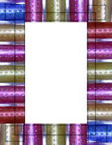 Free Bright Pastel Glitter Frame Royalty Free Stock Photography - 267367