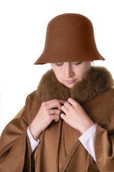 Free Lady In Hat And Coat Stock Photos - 267503