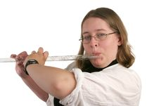 Free Student Playing Flute Royalty Free Stock Photo - 268975