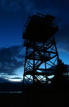 Free Fire Tower Silhouette Stock Photos - 269063