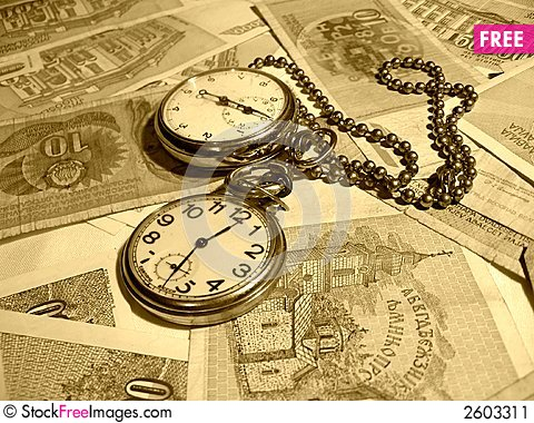 Free Time Is Money Stock Image - 2603311