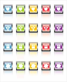 Free MetaGlass Icons Device (Vector Royalty Free Stock Photos - 2602368