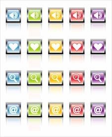 Free MetaGlass Icons Web 1 (Vector) Stock Photos - 2602383
